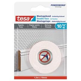 Powerbond Montageband 19mmx1,5m bis 10kg/m Haftkraft weiß Tesa 77742-00000-00 Produktbild