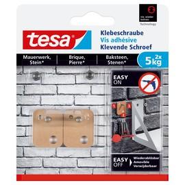 Klebeschraube für Mauerwerk bis 5kg Haftkraft viereckig Tesa 77905-00000-00 (PACK=2 STÜCK) Produktbild