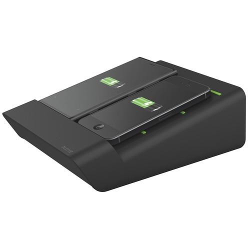 Duo-Ladestation für Smartphone schwarz Leitz 6445-00-95 Produktbild Additional View 1 L