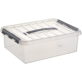 Aufbewahrungsbox mit Tragegriff und Verschluss für A4 400x300x110mm 10Liter transparent Kunststoff Helit H6160202 Produktbild