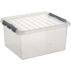 Aufbewahrungsbox mit Verschluss für A3 500x400x260mm 36Liter transparent Kunststoff Helit H6160502 Produktbild
