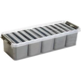 Aufbewahrungsbox 385x141x93mm 3,5Liter silber/transparent Kunststoff Helit H6160902 Produktbild