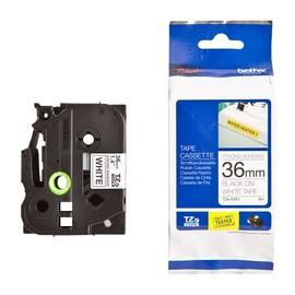 Schriftband extra stark klebend 36mm/8m schwarz auf weiß Brother TZe-S261 Produktbild