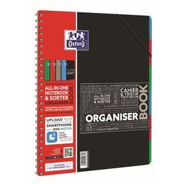 Collegeblock Oxford Organizerbook A4+ kariert 4-fach Lochung 80Blatt 90g Optik Paper weiß 40019524 Produktbild