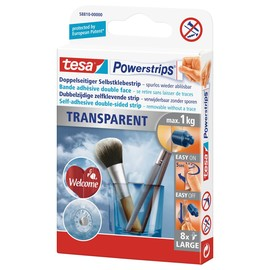 Powerstrips Large bis 1,0kg Haftkraft beidseitig klebend transparent Tesa 58810-00000-00 (PACK=8 STÜCK) Produktbild