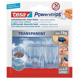 Powerstrips Haken XL bis 1,0kg Haftkraft transparent Tesa 58813-00000-00 (PACK=2 STÜCK) Produktbild