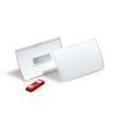 Namensschild CLICK FOLD mit Magnet 54x90mm Durable 8215-19 (PACK=10 STÜCK) Produktbild