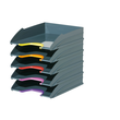 Briefkorb-Set VARIOCOLOR TRAY SET C4 anthrazit/grau Durable 7705-57 (SET=5 STÜCK) Produktbild