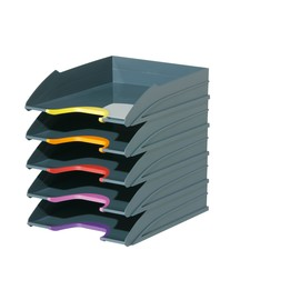 Briefkorb-Set VARIOCOLOR TRAY SET C4 anthrazit/grau Durable 7705-57 (SET=5 STÜCK) Produktbild