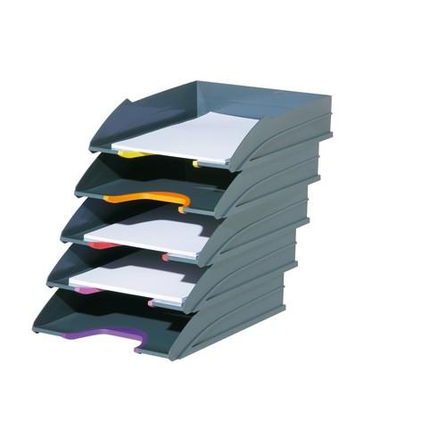 Briefkorb-Set VARIOCOLOR TRAY SET C4 anthrazit/grau Durable 7705-57 (SET=5 STÜCK) Produktbild Additional View 1 L