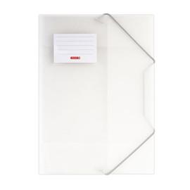 Eckspanner mit 3 Klappen A4 weiß transluzent PP Brunnen 10-4160400 Produktbild