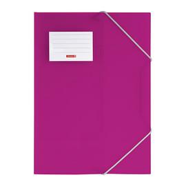 Eckspanner mit 3 Klappen A4 pink transluzent PP Brunnen 10-4160426 Produktbild