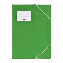 Eckspanner mit 3 Klappen A4 grün transluzent PP Brunnen 10-4160450 Produktbild