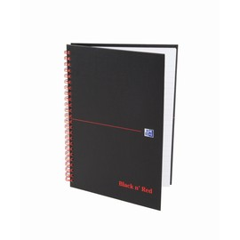 Collegeblock Oxford BLACK & RED A5 kariert Hard Cover 70Blatt 90g Optik Paper weiß 400047652 Produktbild
