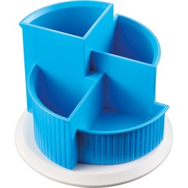 Multiköcher Colours drehbar Durchmesser 150mm/H 112mm blue lagune Kunststoff Helit H6390530 Produktbild