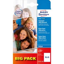 Fotopapier Inkjet Classic 10x15cm 180g weiß glossy Zweckform C2570-100 (PACK=100 BLATT) Produktbild