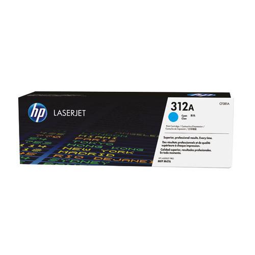 Toner 312A  für Color LaserJet Pro MFP M476 2700Seiten cyan HP CF381A Produktbild Front View L