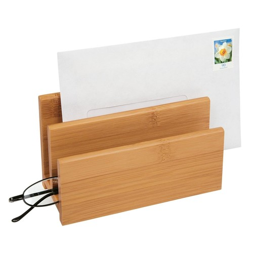 Briefständer BAMBUS mit 2Fächern natur Holz Wedo 61307 Produktbild Additional View 1 L