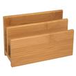 Briefständer BAMBUS mit 2Fächern natur Holz Wedo 61307 Produktbild