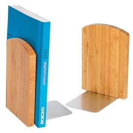 Buchstützen-Set BAMBUS natur Holz Wedo 611207 (PACK=2 STÜCK) Produktbild