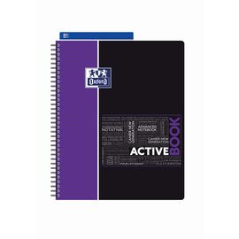 Activebook Oxford Studium A4+ kariert 4-fach Lochung 80Blatt 90g Optik Paper weiß 400019520 Produktbild