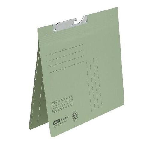 Zweifalz-Pendelhefter kaufmännische + Amtsheftung grün Elba 100420896 Produktbild Front View L
