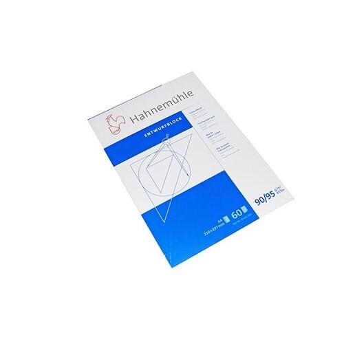 Transparentblock Diamant Spezial Glatt A4 60Blatt 90/95g Hahnemühle 19622100 Produktbild Front View L