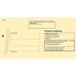 Postzustellungsbriefumschlag für innen mit Anschriftenfeld durchschreibend 224x114mm gelb RNK 2043 (PACK=500 STÜCK) Produktbild