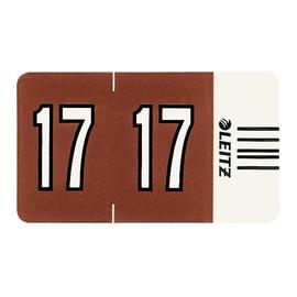 Jahrgangsignale 17 Orgacolor auf Streifen 30x23mm braun selbstklebend Leitz 6747-00-75 (SCH=100 STÜCK) Produktbild