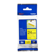 Schriftband extra stark klebend 24mm/8m schwarz auf gelb Brother TZe-S651 (ST=8 METER) Produktbild Additional View 1 S