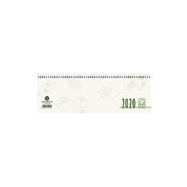 Querkalender 2020 30x10cm 1Woche/2Seiten grau/grün recycling Spiralbindung Zettler 116-0700 Produktbild