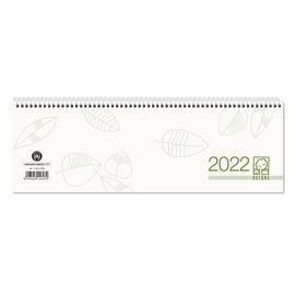 Querkalender 2022 30x10cm 1Woche/2Seiten grau/grün recycling Spiralbindung Zettler 116-0700 Produktbild