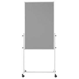 Multiboard UNIVERSAL grau 75x120mm grau filzbespannt Magnetoplan 11112101 Produktbild