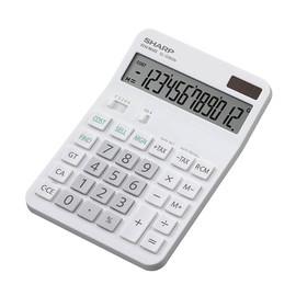 Tischrechner 12-stelliges LCD-Display 125x185x31mm Solar-/Batteriebetrieb Sharp EL-338 GN Produktbild