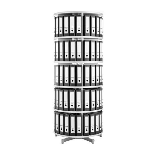 Ordnerdrehsäule Compactfile 80 192cm 5etagenhöhen Für 120ordner Weiß
