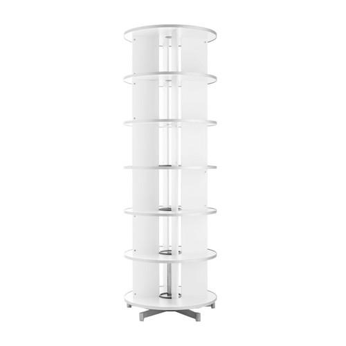 Ordnerdrehsäule Compactfile 80 227cm 6etagenhöhen Für 144ordner Weiß
