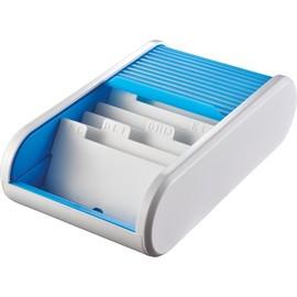 Visitenkartenbox Linear 136x240x67mm blue lagune Kunststoff Helit H6218030 Produktbild