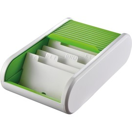 Visitenkartenbox Linear 136x240x67mm apple green Kunststoff Helit H6218050 Produktbild