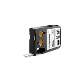 Etikettenkassette vorkonfektioniert 12mm x 12mm schwarz auf weiß Polyester Dymo 1868665 Produktbild