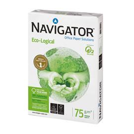 Kopierpapier Navigator Eco-Logical A4 75g weiß holzfrei 169CIE (PACK=500 BLATT) Produktbild
