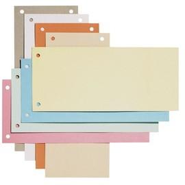 Trennstreifen gelocht 105x240mm gelb recycling Karton Elba 100205026 (PACK=100 STÜCK) Produktbild