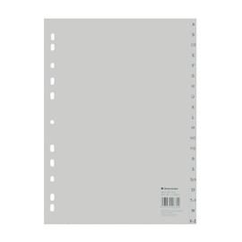 Register A-Z A4 225x297mm grau Plastik BestStandard 01524 Produktbild