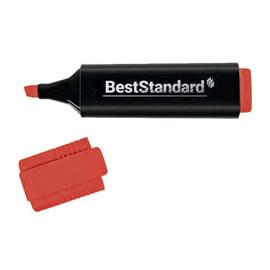 Textmarker 2-5mm Keilspitze rot BestStandard 3398 Produktbild