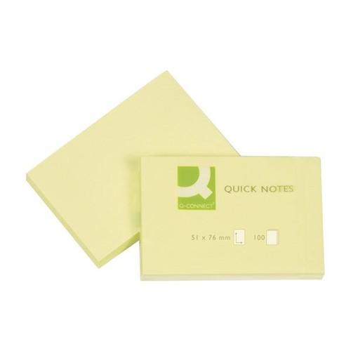 Haftnotizen 51x76mm gelb Papier BestStandard KF10501 (ST=100 BLATT) Produktbild Front View L