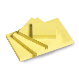 Haftnotizen 75x75mm hellgelb Papier BestStandard (ST=100 BLATT) Produktbild