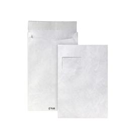 Faltentasche TYVEK mit Fenster C4 229x324x20mm mit Haftklebung 54g weiß mit Spitzboden (PACK=100 STÜCK) Produktbild
