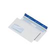 Briefumschlag CYGNUS haftklebend weiß DIN lang+ 114x229mm / mit Fenster / mit blauem Innendruck / 100g/m2 (PACK=500 STÜCK) Produktbild