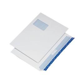 Versandtasche CYGNUS mit Fenster C4 mit Haftklebung 120g weiß mit blauem Innendruck Öffnung Breitseite (PACK=250 STÜCK) Produktbild