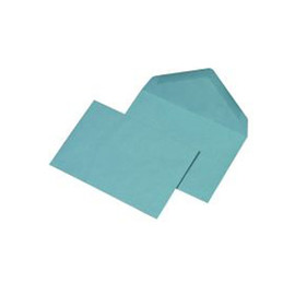 Briefumschlag ohne Fenster C6 114x162mm mit spitzer Klappe 75g blau nassklebend (PACK=1000 STÜCK) Produktbild