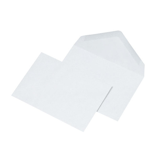 Briefumschlag ohne Fenster C6 114x162mm mit spitzer Klappe 75g blau nassklebend (PACK=1000 STÜCK) Produktbild Additional View 1 L